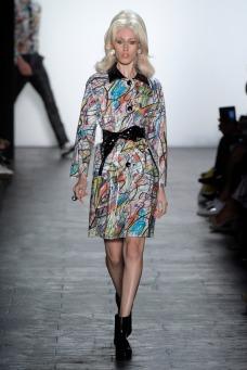Models on the Jeremy Scott catwalk. Photo courtesy Photo by Giovanni Giannoni/WWD